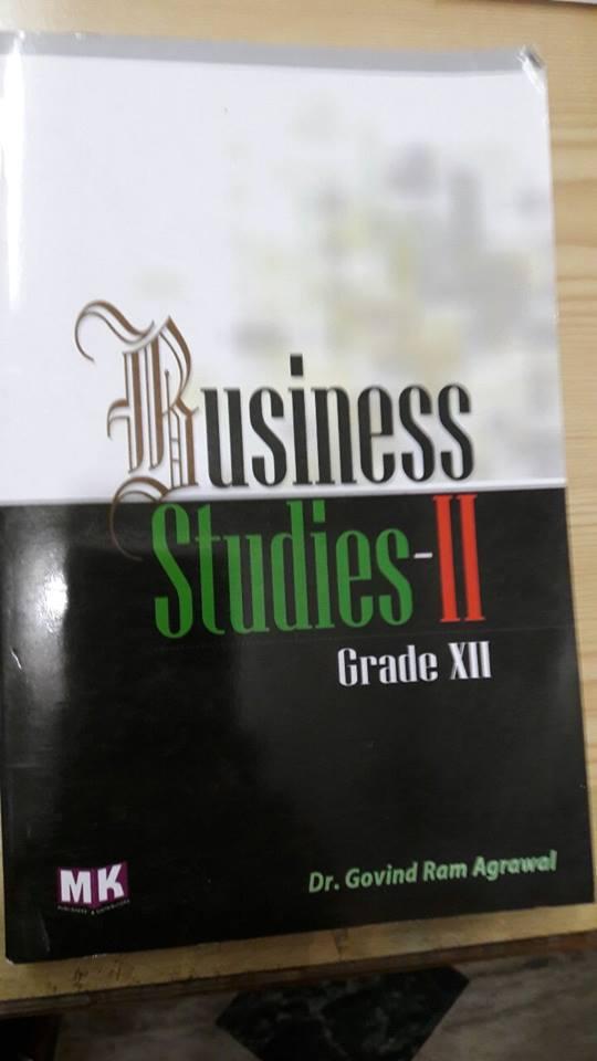 Business Studies – I (Nepali Medium) – M K  Publishers and